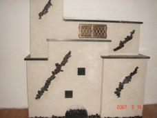 Kachelofen modern schwarz weiß